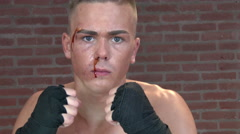 Close up kick boxer fighting 4K Stock Footage