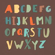 Paper Cut Alphabet. Colorful letters. Easy edited color of letter. Capital le Stock Illustration