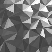 Triangular Low Poly Monochrome Background Stock Illustration