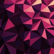 Triangular Low Poly Dark Pink Pattern Stock Illustration