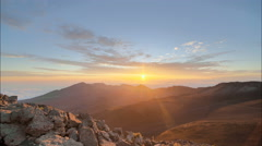 Perfect Time Lapse Dawn, High Altitude HDR, Flawless Stock Footage