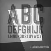 Old film noir styled alphabet. Piirros