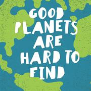 """Earth day quotes inspirational. """"Good planets are hard to find"""". Paper Cut Le Stock Illustration"""