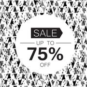 Sale design template. Abstract triangle monochrome background Stock Illustration