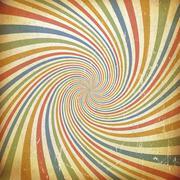 Sunburst colorful vintage background. Old paper texture Stock Illustration