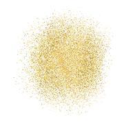 Gold sparkles on white background. Stock Illustration