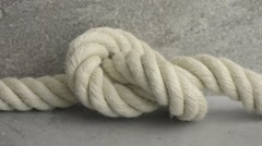 Strong rope with knot Stock Footage