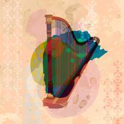 The harp - stock illustration