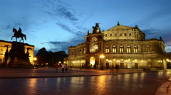 Day to Night in City Dresden 4K Stock Footage