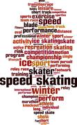 Stock Illustration of Speed skating skiing word cloud