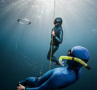 Free divers - stock photo