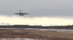 ALASKA USA, MARCH 2016, US Air Force C-17 Aircraft Land - stock footage