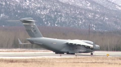 ALASKA USA, MARCH 2016, US Air Force C-17 Aircraft Roll - stock footage