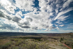 Timelapse of clouds and shadows speeding over Montana Stock Footage