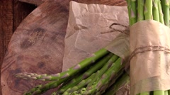 Rotating green Asparagus (4K, not loopable) Stock Footage