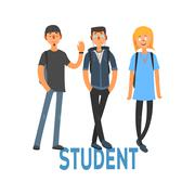 Student People Set 3 - stock illustration