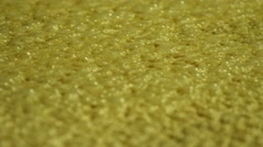Close up bourbon mash fermenting, rack focus Stock Footage
