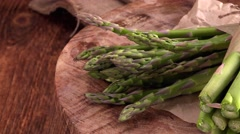 Green Asparagus (4K, not loopable) Stock Footage