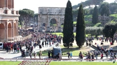 The Collosseum, Rome Italy. Stock Footage