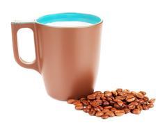 Brown Coffee Mug - stock photo