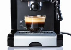 Coffee espresso cup espresso closeup photography. - stock photo
