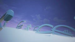 Currency Signs In Fog - stock footage