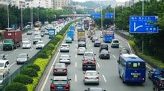 Shenzhen, China: traffic congestion - stock footage