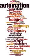 Stock Illustration of Automation word cloud