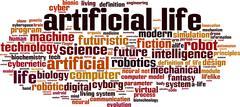 Artificial life word cloud Stock Illustration