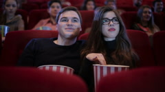 Couple on a date at cinema - stock footage