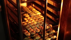 Biscuits in the Bakery Stock Footage