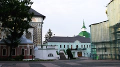 Church of Holy Spirit in Sergius Lavra, Russia Stock Footage