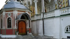 Patriarchs chambers in Trinity Lavra of Sergius Stock Footage
