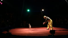 "Glybokaya, Ukraine-March 27, 2016. Circus artists-shapіto ""ORBІTA"" - stock footage"