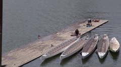 Portland Oregon Light Watercraft Dock - stock footage