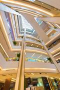 interior of Siam Paragon Shopping mall, Bangkok - stock photo