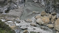 The Liwu river Liwu canyon at Taroko gorge, Taroko National Park Stock Footage
