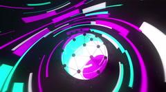 Orbital Beat Sphere Stock Footage