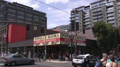 Powell's Bookstore With Portland Streetcar Stock Footage