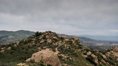Rocky Peak Panning Time Lapse above the San Fernando Valley in Los Angeles. Stock Footage