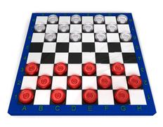 Glass checkers - stock illustration