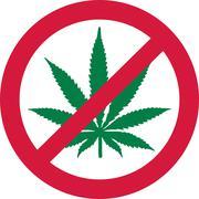 No Marijuana. Dope forbidden Stock Illustration