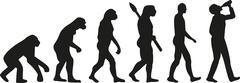 Stock Illustration of Evolution of drinking man