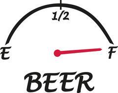 Beer speed indicator - stock illustration