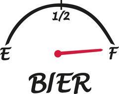Beer speed indicator german - stock illustration