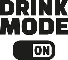 Drink mode on Stock Illustration