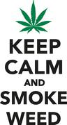Stock Illustration of Keep calm and smoke weed marijuana