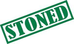 Stoned stamp - stock illustration