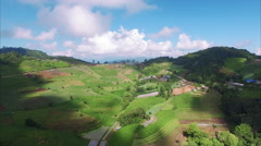 Thailand Chiang Mai Stationary View Of Hilly Landscape - stock footage