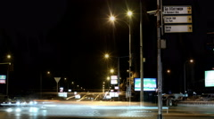 Timelapse Traffic at Night 4k - stock footage
